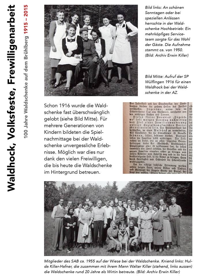 Waldhock, Volksfeste, Frewilligenarbeit