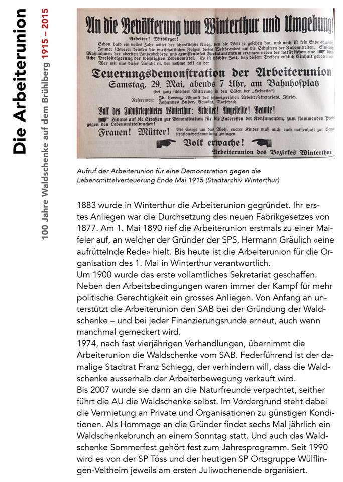 100 Jahre Waldschenke